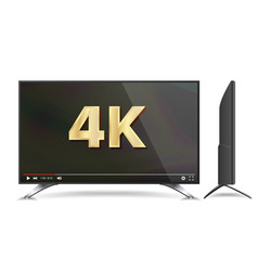 4k tv screen video player modern lcd vector image
