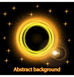 Abstract background with bright fire glowing vector image