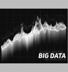 Abstract big data visualization vector