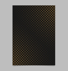 Abstract halftone dot pattern flyer template - vector