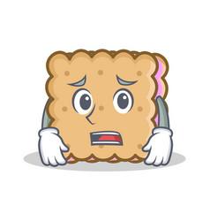 Afraid biscuit cartoon character style vector