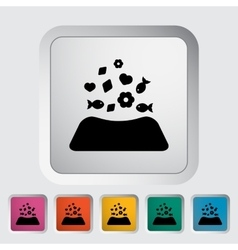 Animal bowl vector