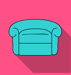 Armchair icon in flat style isolated on white vector
