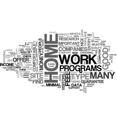 at home work text word cloud concept vector image