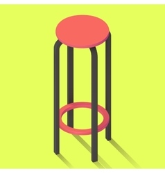 bar chair isolated perspective view vector image