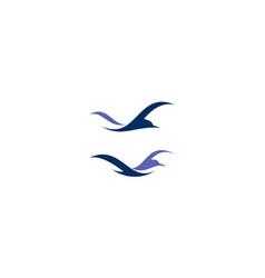 bird logo icon vector image