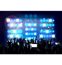 Blue of background crowd of party people vector image