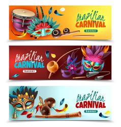 brasil carnaval banners set vector image