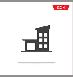 Buildings icons isolated on white background vector