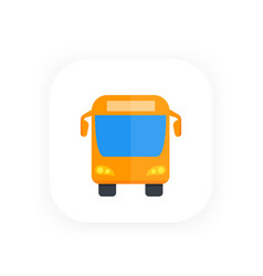 bus icon front view flat style vector image