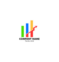 business stats logo design template vector image