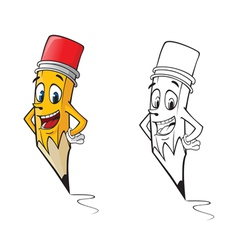 Cartoon pencil vector