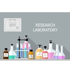 Chemical Research Laboratory Flat design vector image