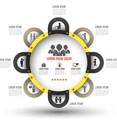 Circle team template vector