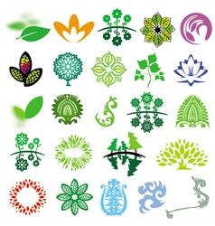 collection of signs ecology of nature vector image