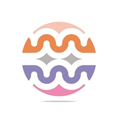 colorful arch element design abstract icon vector image