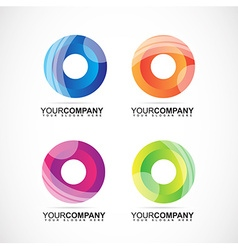 Corporate logo with circles colors for business vector image