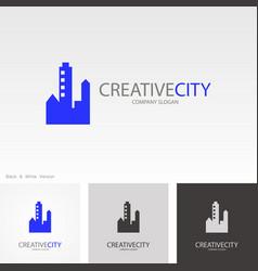 creative cityscape logo vector image