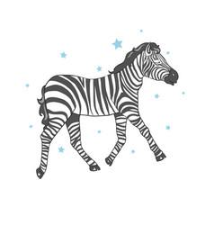cute zebra vector image