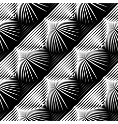 Design seamless monochrome shell pattern vector
