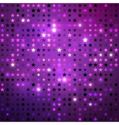 Disco background with stars vector image