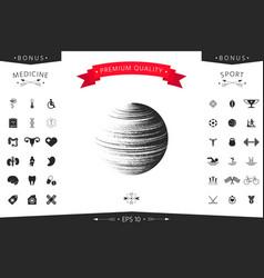 earth symbol logo vector image