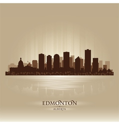 Edmonton Alberta skyline city silhouette vector image
