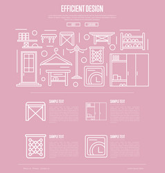 Efficiency hallway space design poster vector