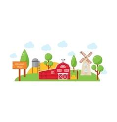 Farm house vector image