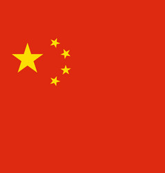 Flag of china in official rate and colors vector