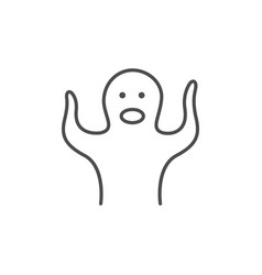 Ghost or specter line outline icon vector