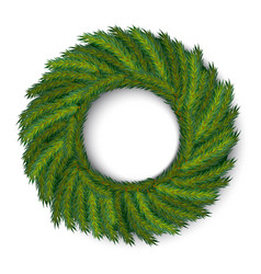 green christmas wreath global colors vector image