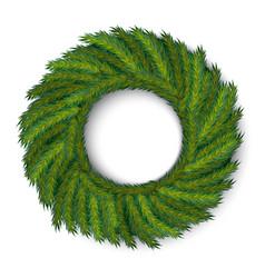 Green christmas wreath global colors vector