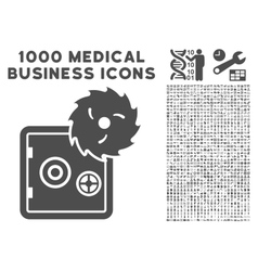 Hacking Theft Icon with 1000 Medical Business vector