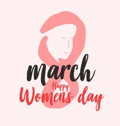 happy women day background graphic vector image