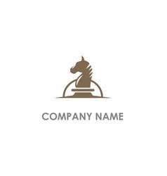 horse head chess logo vector image