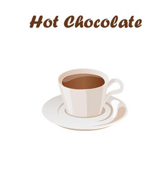 hot chocolate cup vector image