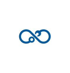 infinity fix and repair logo icon design vector image