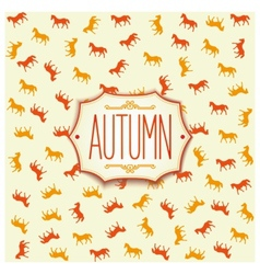 Label design for autumn season 2014 vector image