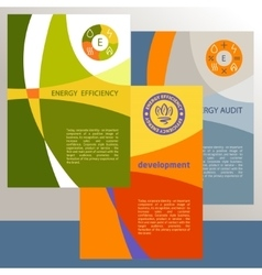logo energy efficiency Diagram of growth vector image