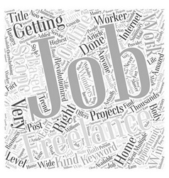 Multiple Scopes for Freelance Jobs Word Cloud vector