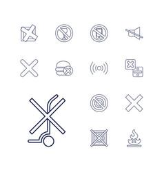 No icons vector