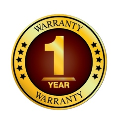 One Year Warranty Design isolated on white vector image