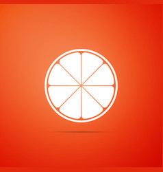orange in a cut citrus fruit healthy lifestyle vector image