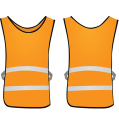 Orange safety vest vector