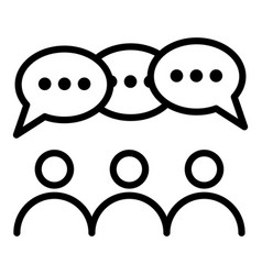 People group discussion icon outline style vector
