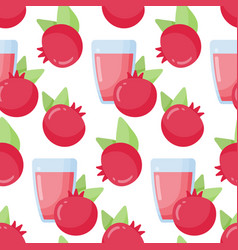 pomegranate juice seamless pattern vector image