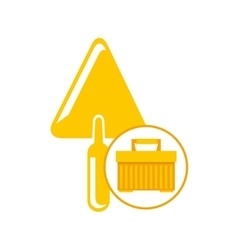 Portable tool box trowel icon vector