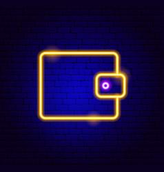 purse neon sign vector image
