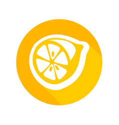Round icon of fresh lemon vector